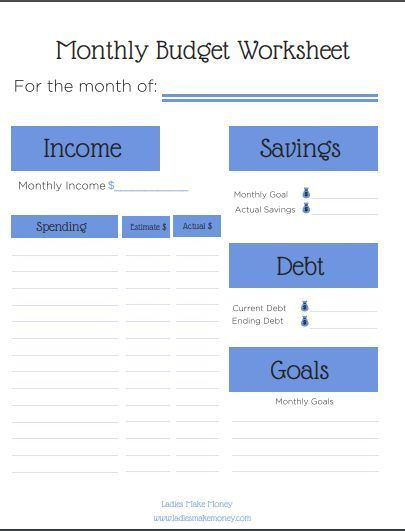 FREE Monthly Budget Template that can be downloaded to help make