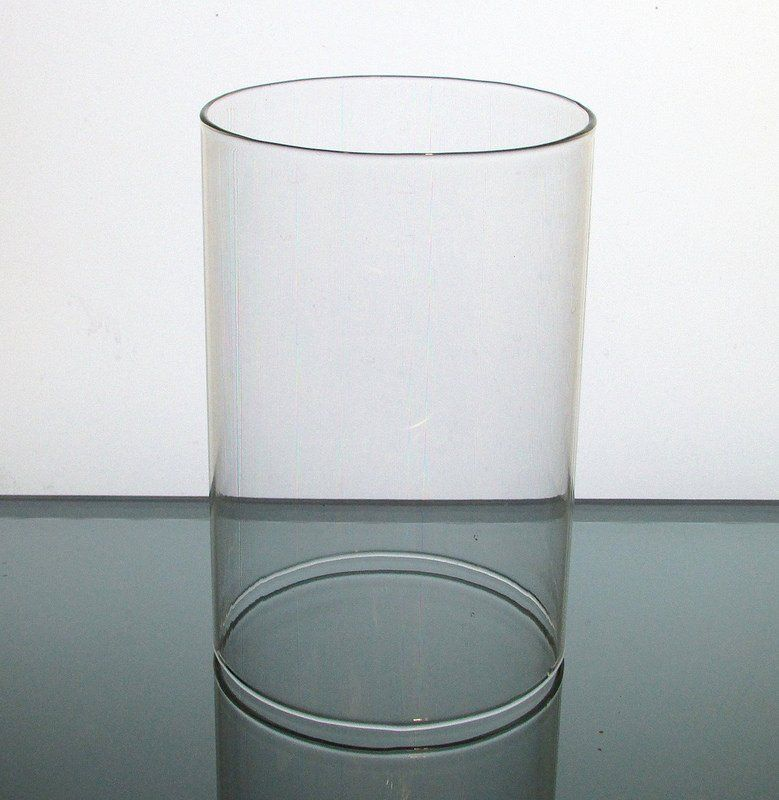 Hurricane Shade Sleeve Cylinder Clear 5 7/8 x 4 Glass replacement shade/sleeve for your candle ...