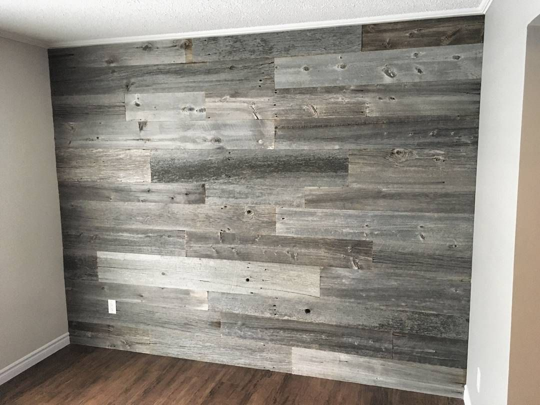 1 113 Likes 17 Comments Barnboardstore Com Barnboardstore On Instagram Another Feature Wall Completed Yes Rustic House Rustic Living Room Barnwood Wall