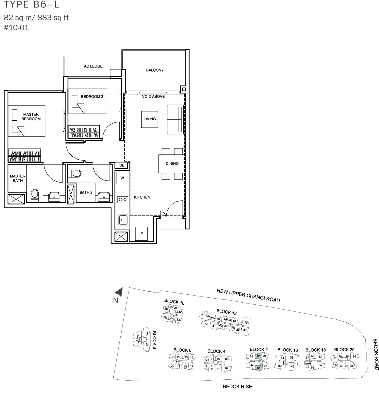 Singapore Condo Interior Design: The Glades Condo Floor Plan