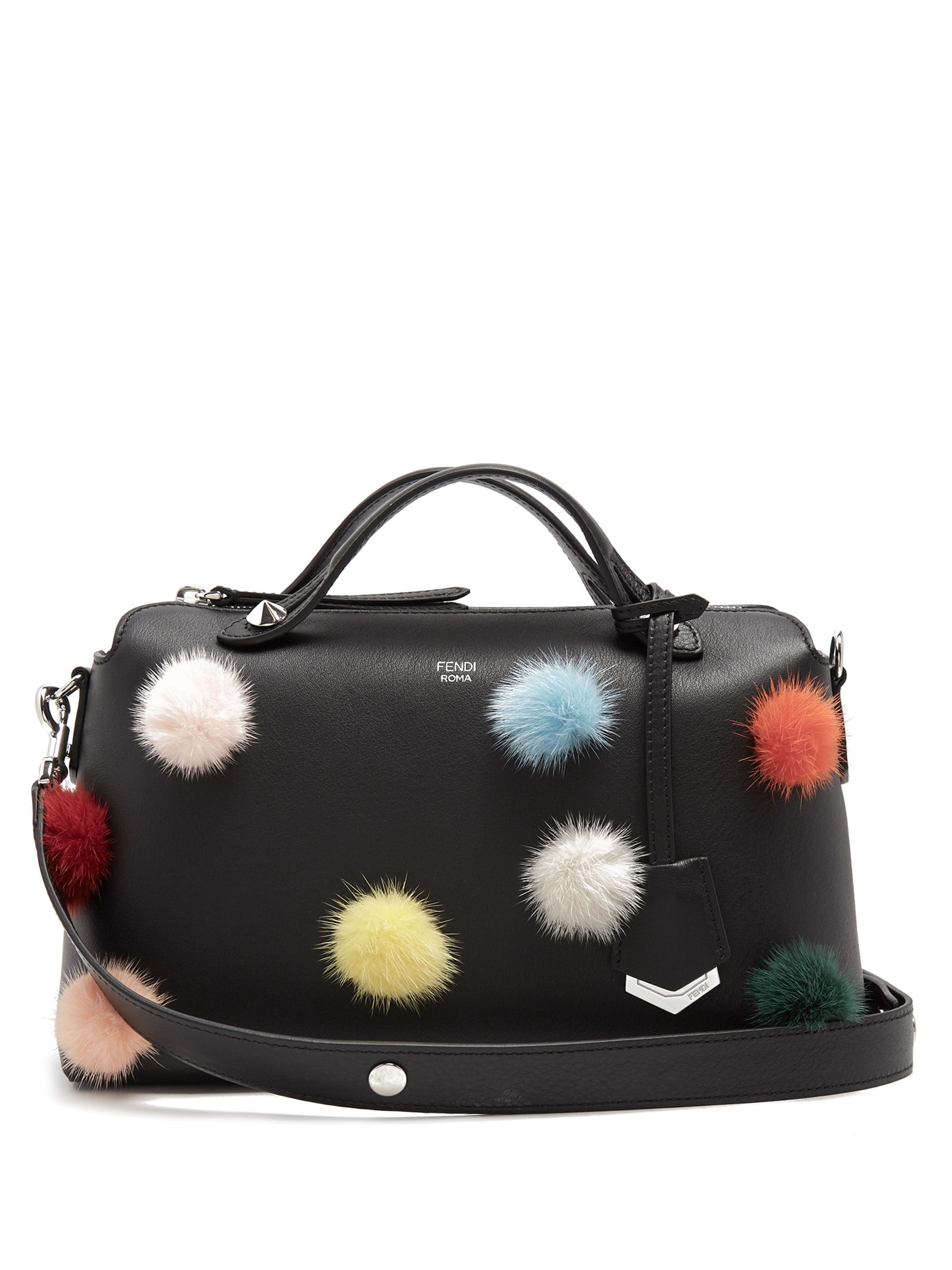 b300c9188ff ... where to buy fendi by the way fur pompom embellished leather bag. fendi  bags 35c42 ...