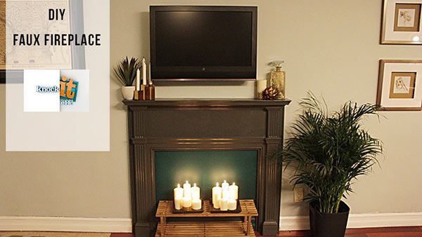 DIY Faux Fireplace: If you want to add instant character, charm and warmth to your space, this easy fake fireplace project is for you. It's a great way to fill a blank wall and take the focus off of a big TV! Here's how: http://livewelln.co/1ebCkAY