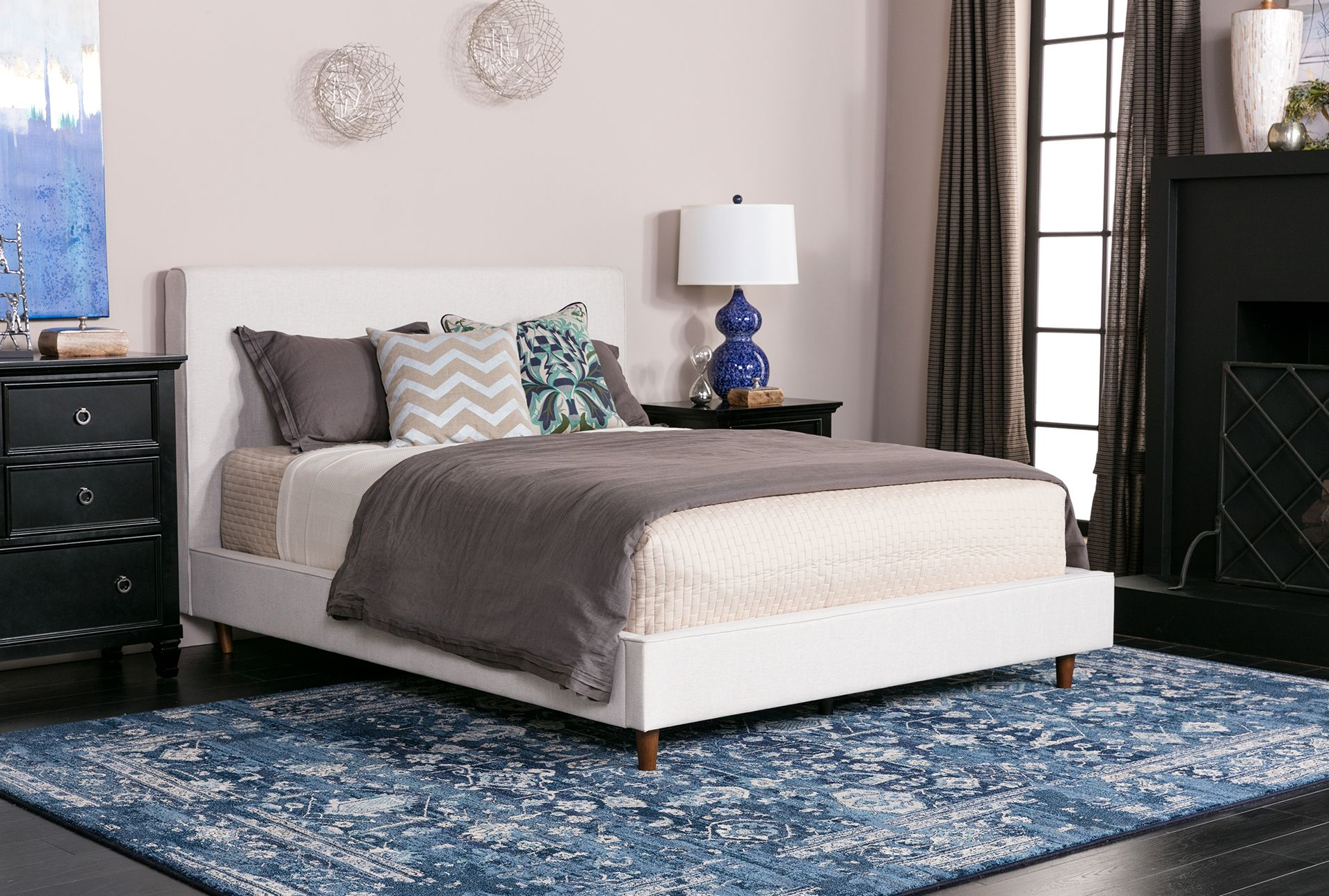 Dean sand california king upholstered panel bed products