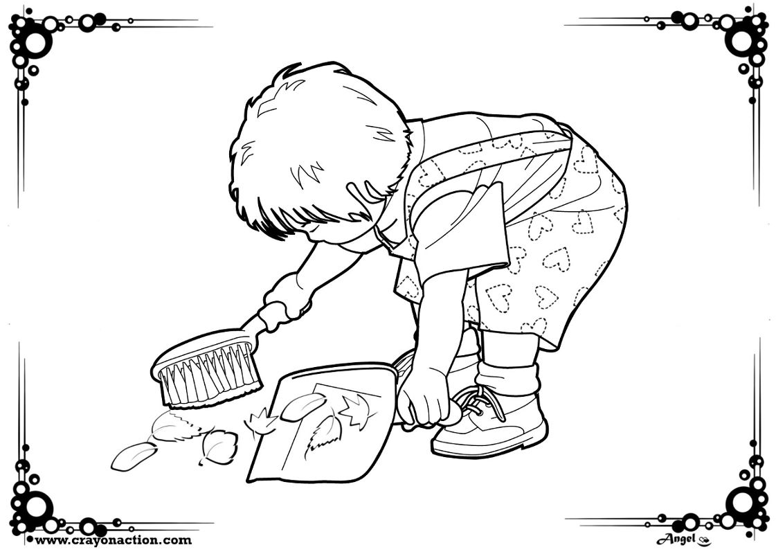 helping others coloring pages free - photo#31
