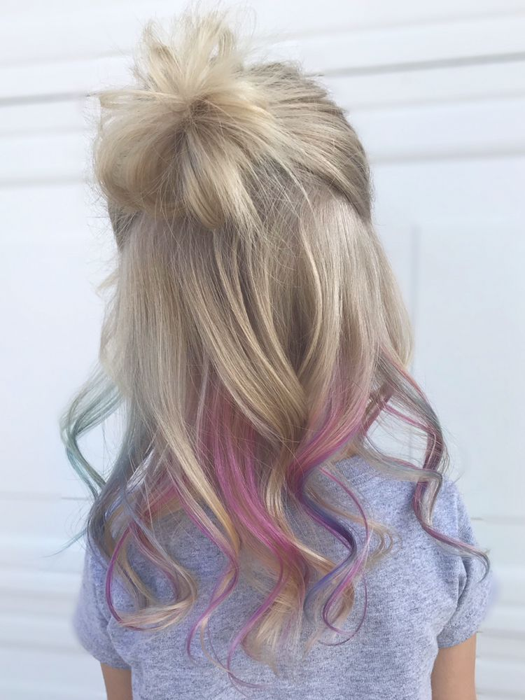 Little Girl Mermaid Hair Haarfarben Strahnchen Madchen Frisuren Meerjungfrau Haarfarbe