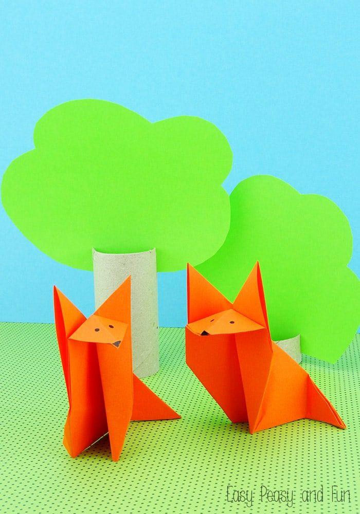 Origami Fox Origami For Kids Jonahs Interests Pinterest