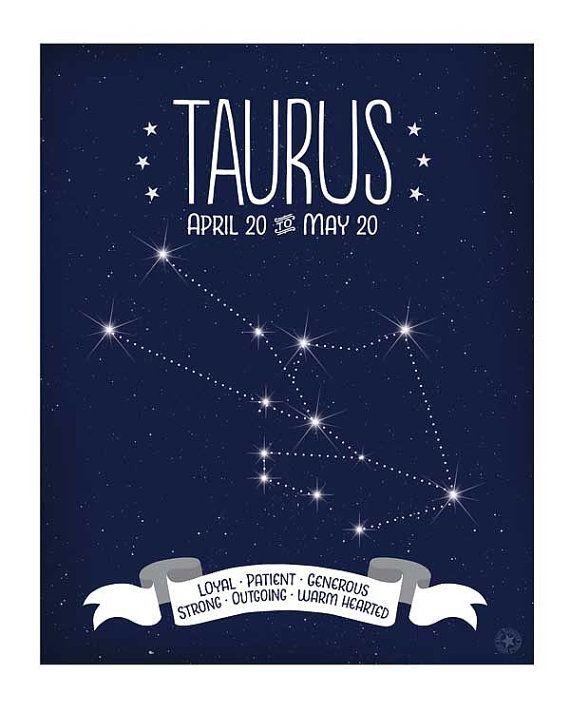 Taurus Constellation Art Zodiac Sign by AnneGarrisonStudio ...