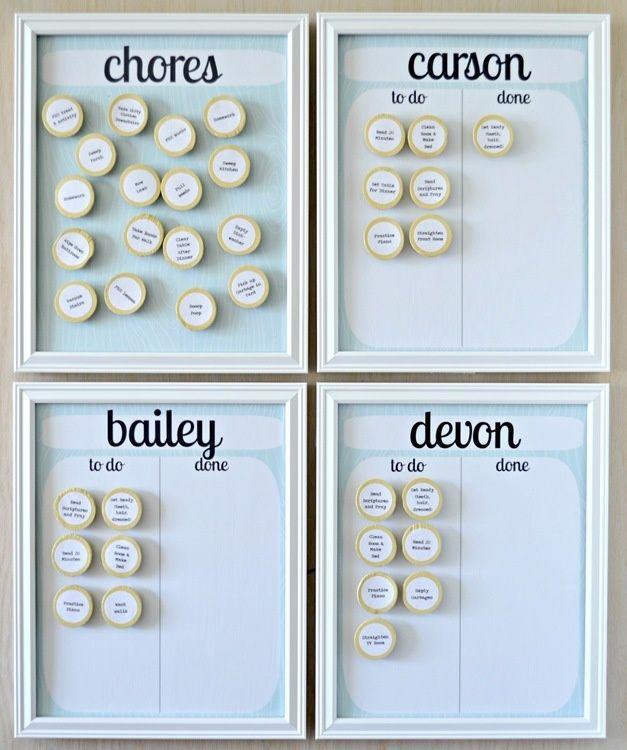 Chore Charts {diy} Pinterest Chart, Lemon and Parents