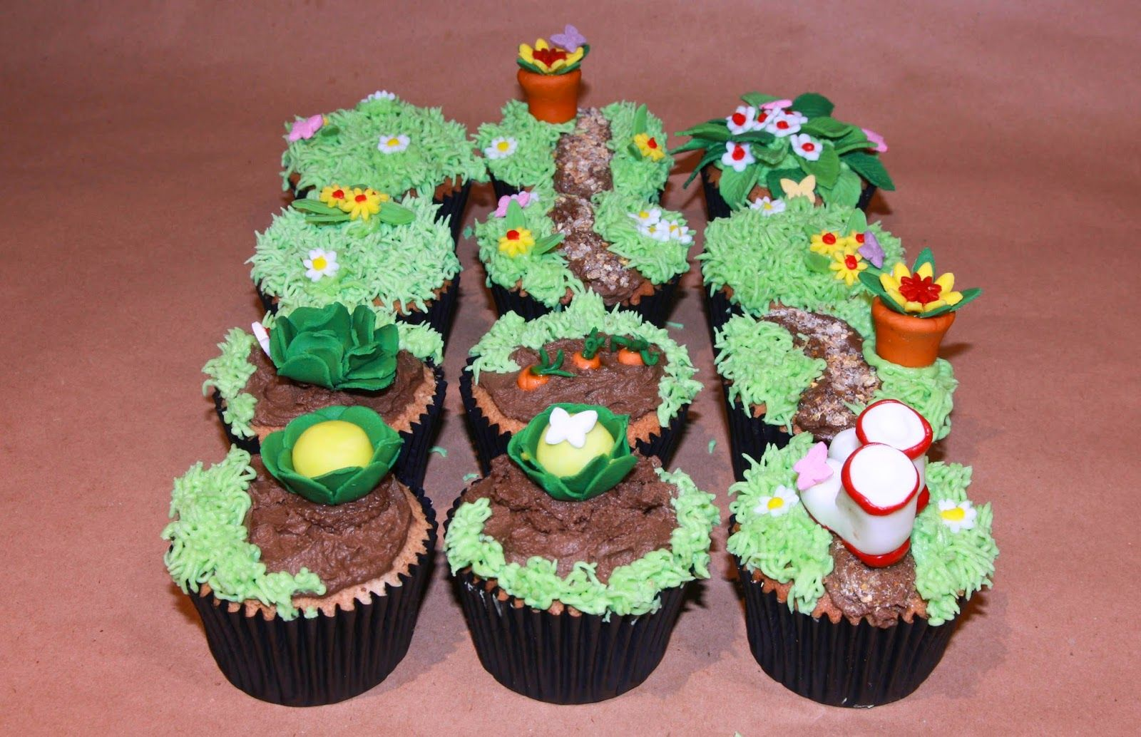 allotment, cake, cake decorating, cupcake, daisy, daisies, Earl Grey ...