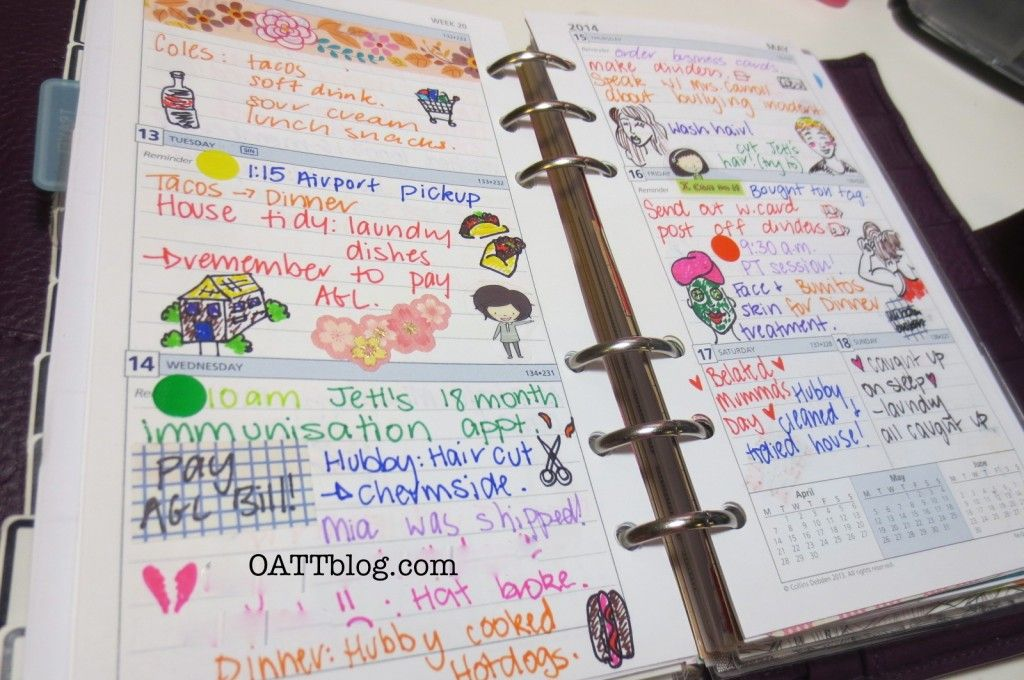 How I use my planner inserts!