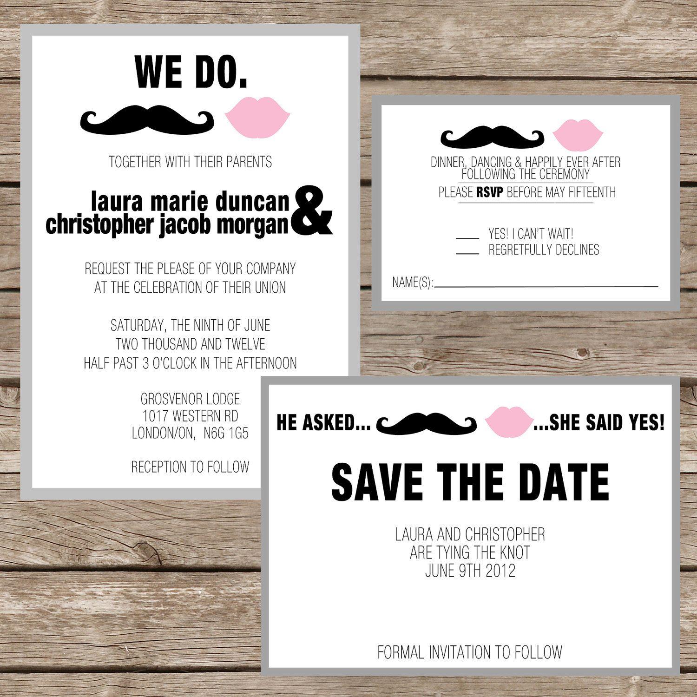 DIY or PRINT Urban Chic Tying the Knot Wedding or Reception Invitation