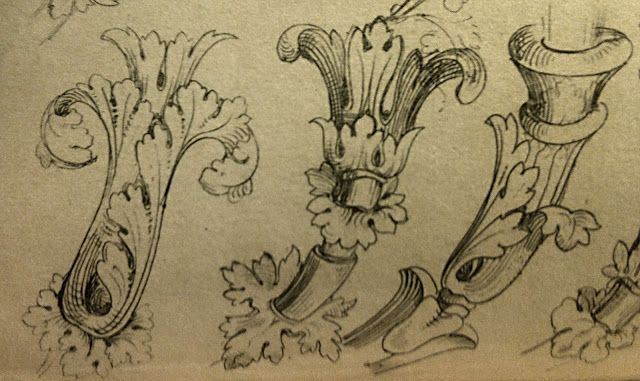 surface fragments How to draw the Acanthus, Part II Vintage Black