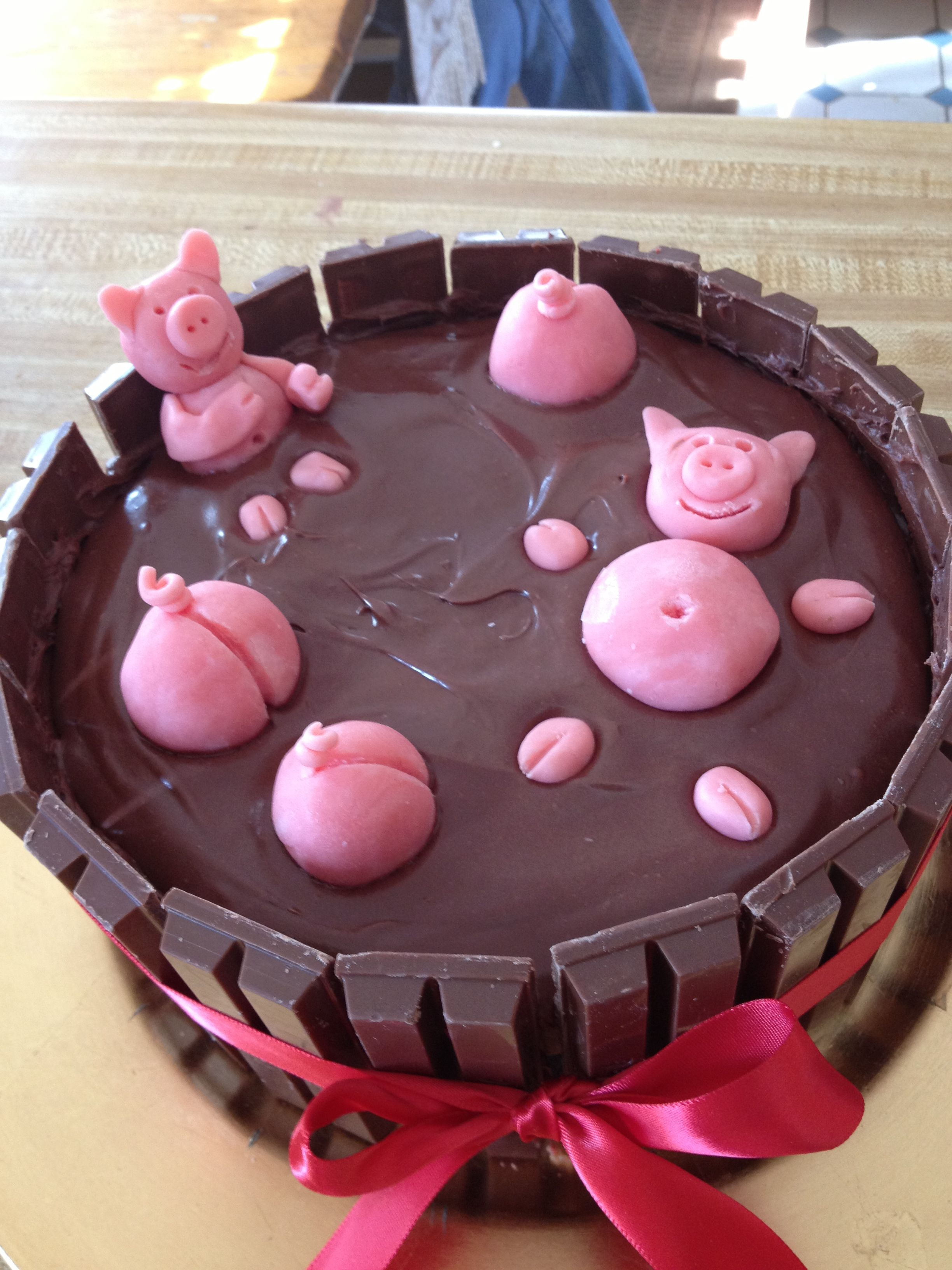 This is so easy! 2 round 8 inch cakes. 1 can of chocolate ...