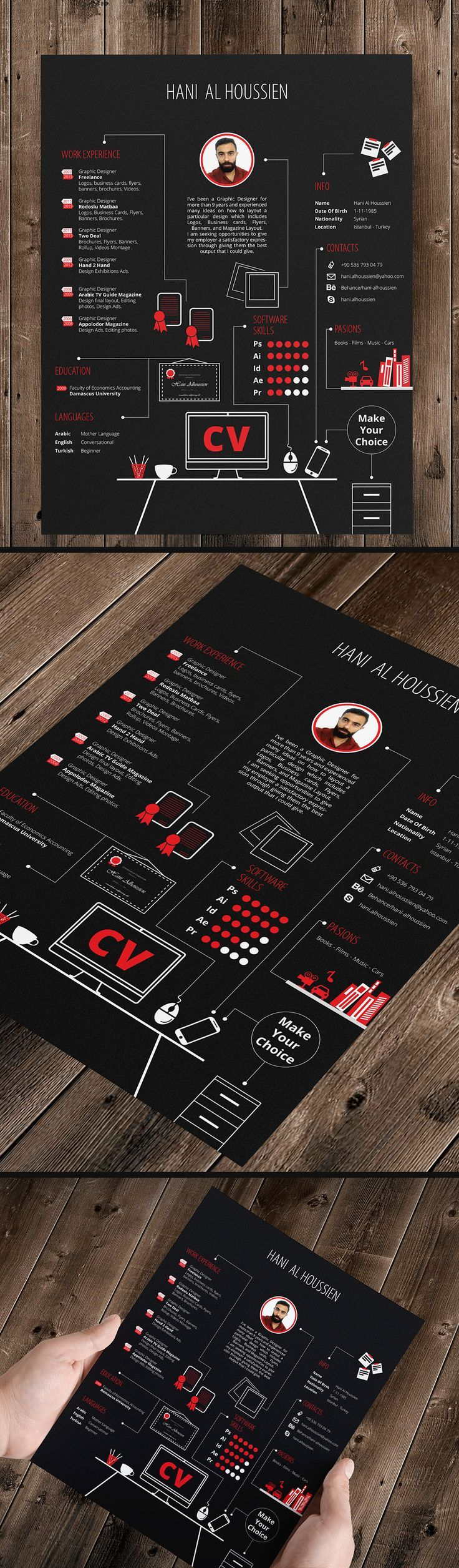 cv graphic designer on behance  if you like ux  design  or