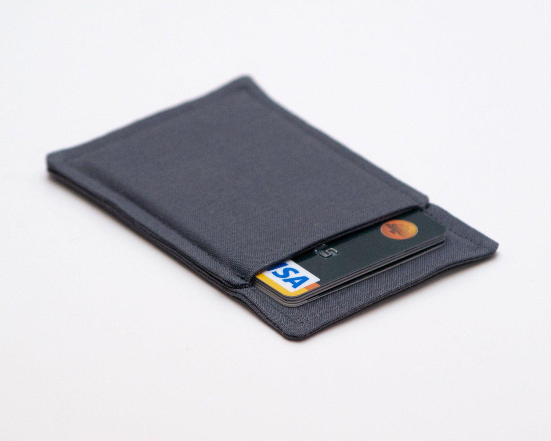 Dark Gray Grey Thin Wallet, Minimalist wallet, Business card holder ...