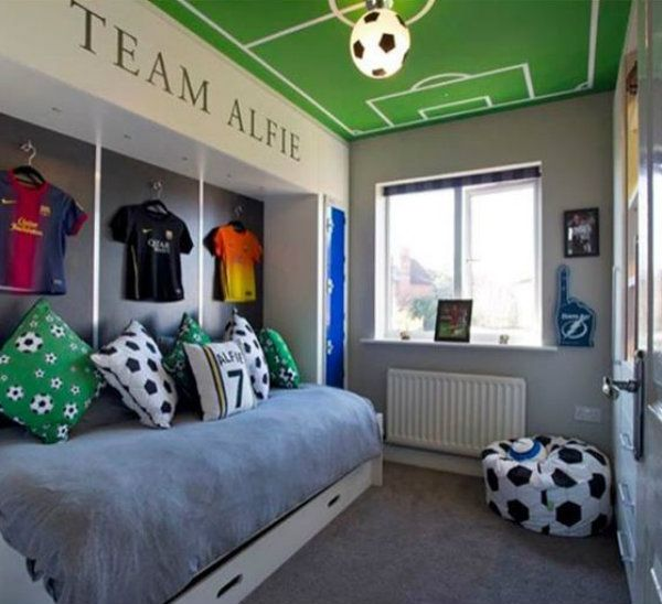 Childrens Football Bedroom Ideas: Quarto Infantil Masculino: 15 Fotos Para Inspirar