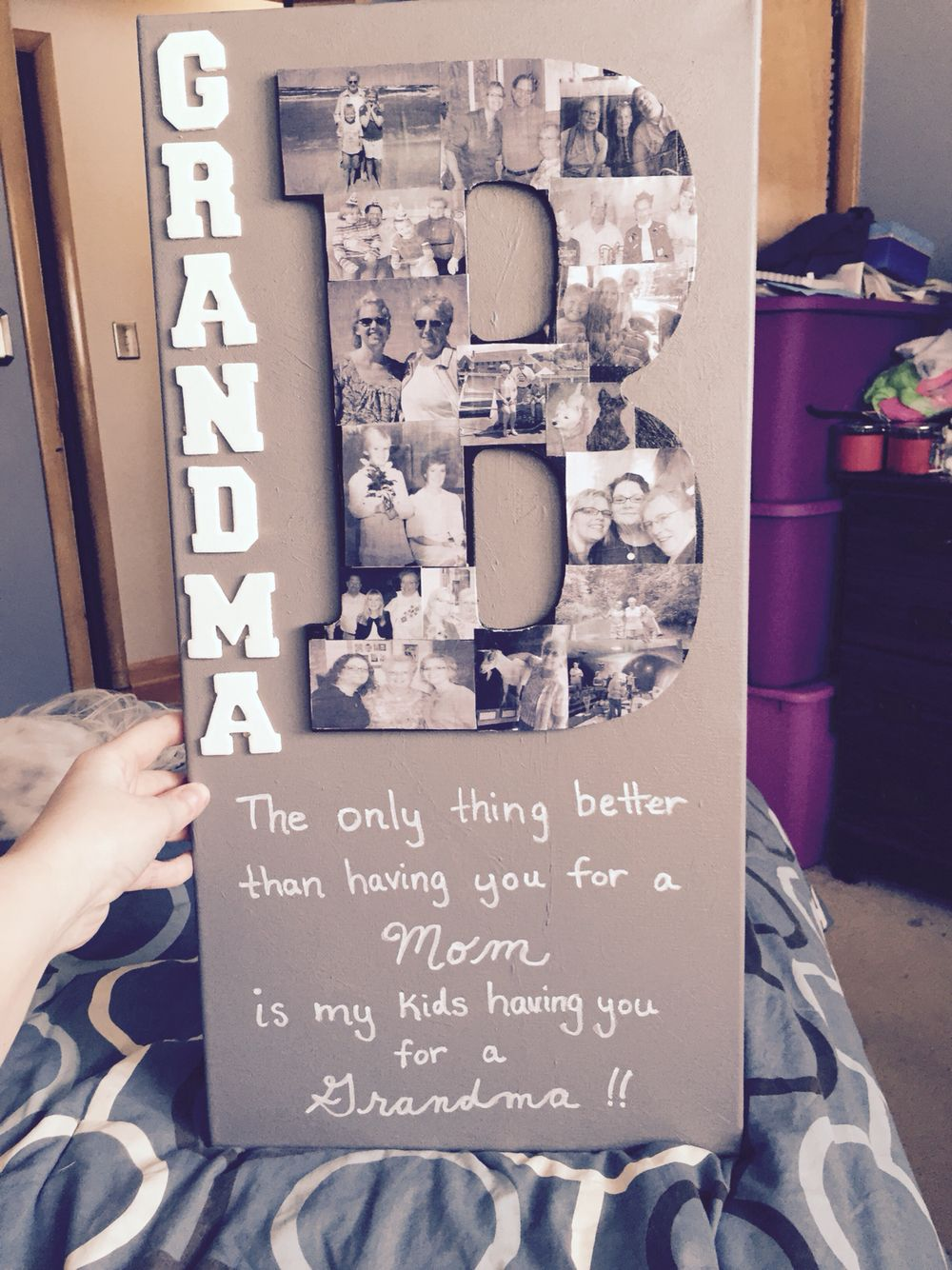 Bday present for Grandma. | Family Pic Display | Pinterest | Gift ...