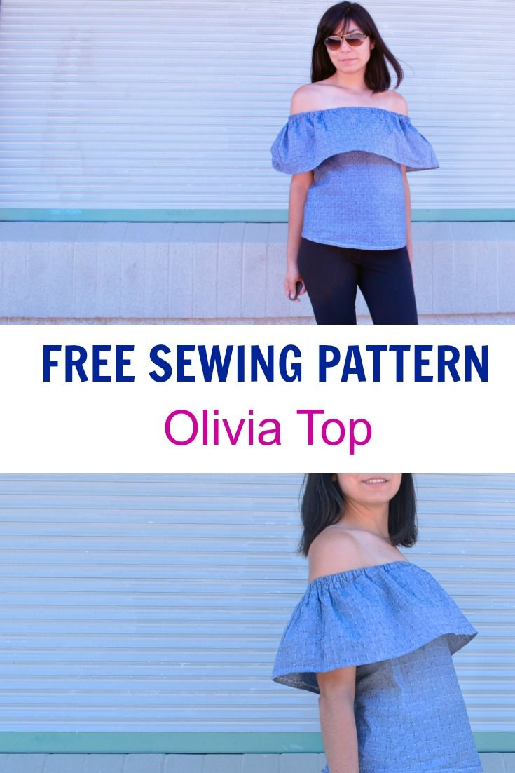 Free sewing Pattern Oliva Top - On the Cutting Floor: Printable pdf ...