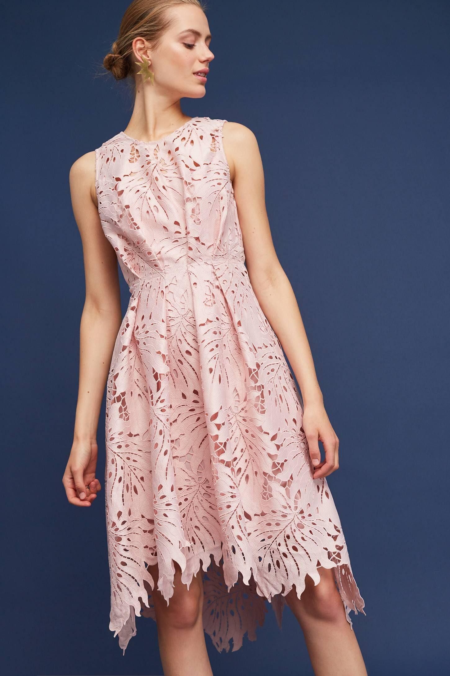 Palm & Lace Dress