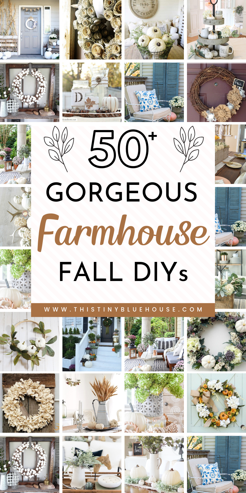 60 Ultimate Best DIY Farmhouse Fall Decor Ideas - This Tiny Blue House #falldecorideasfortheporch