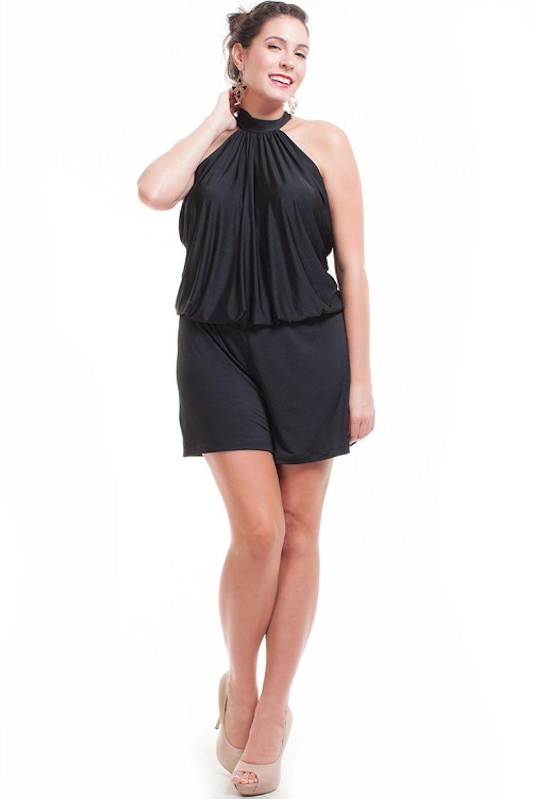bf1c5f13e0d6 Amazon.com  Nyteez Women s Plus Size Short High Neck Romper Jumpsuit   Clothing