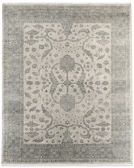Hana Rug Silver Sage Restoration Hardware Pretty For A Hallway Runner