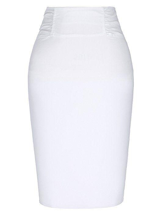 49cbead2e9f Kate Kasin Knee Length Pencil Skirt For Office Women Size S KK268-1 at Amazon  Women s Clothing store