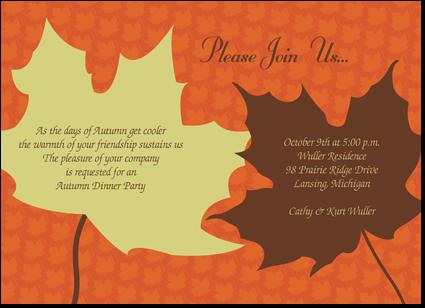thanksgiving invitation | falling for autumn | pinterest, Party invitations