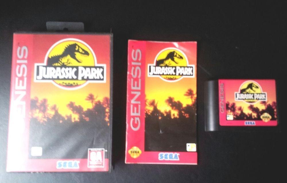 Vintage Sega Genesis Game Complete Jurassic Park Many