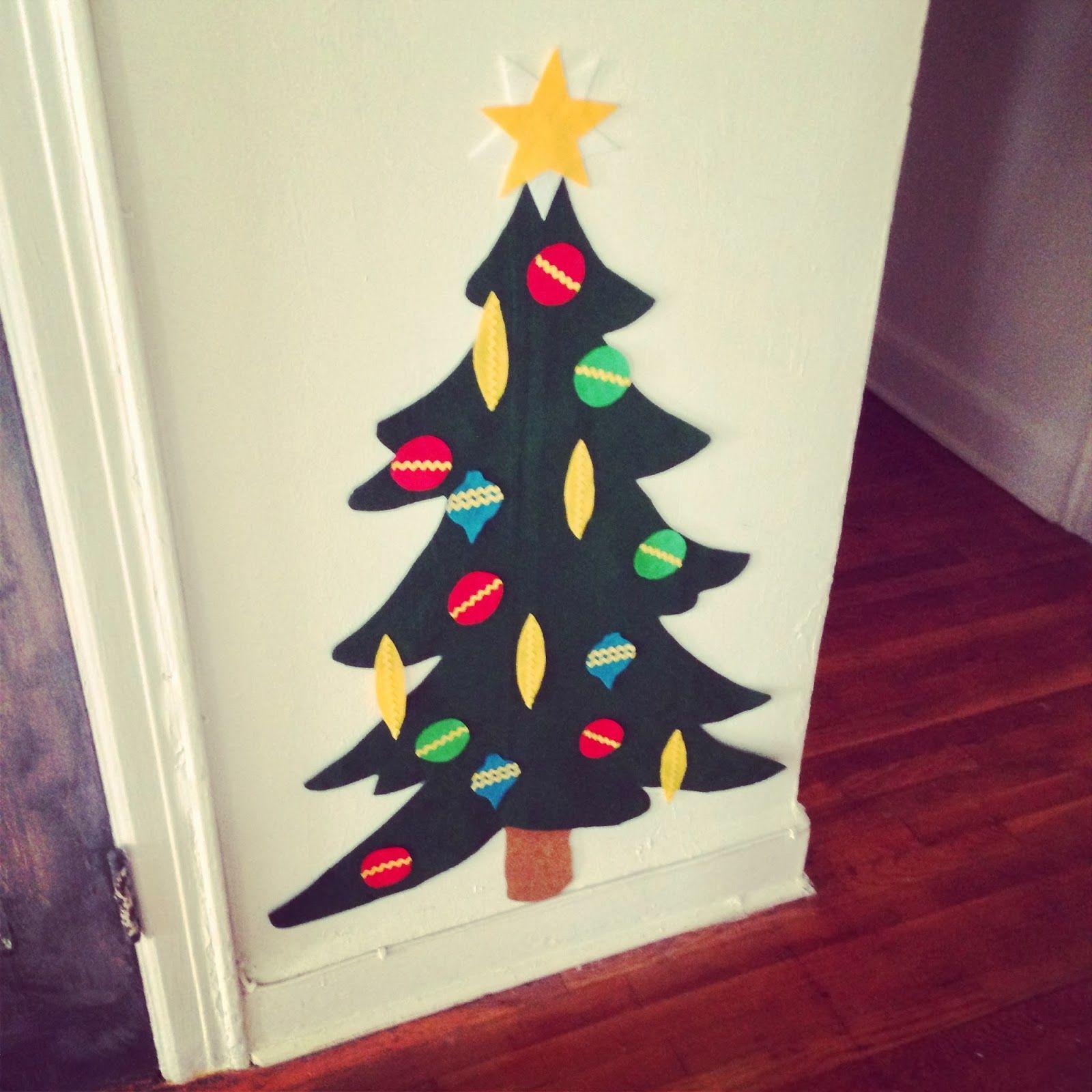 Ideas en Fieltro para estas Navidades rbol de navidad en fieltro