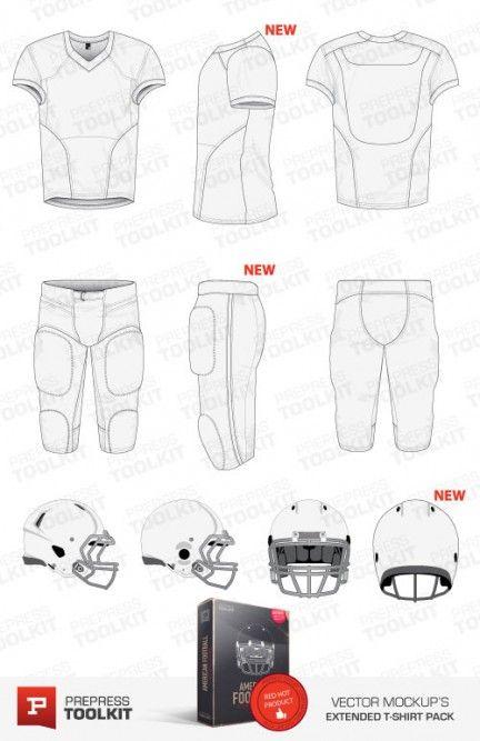 Download American Football Sports Pack Vector Mockup Templates Prepress Toolkit American Football American Football Uniforms Sport Pack