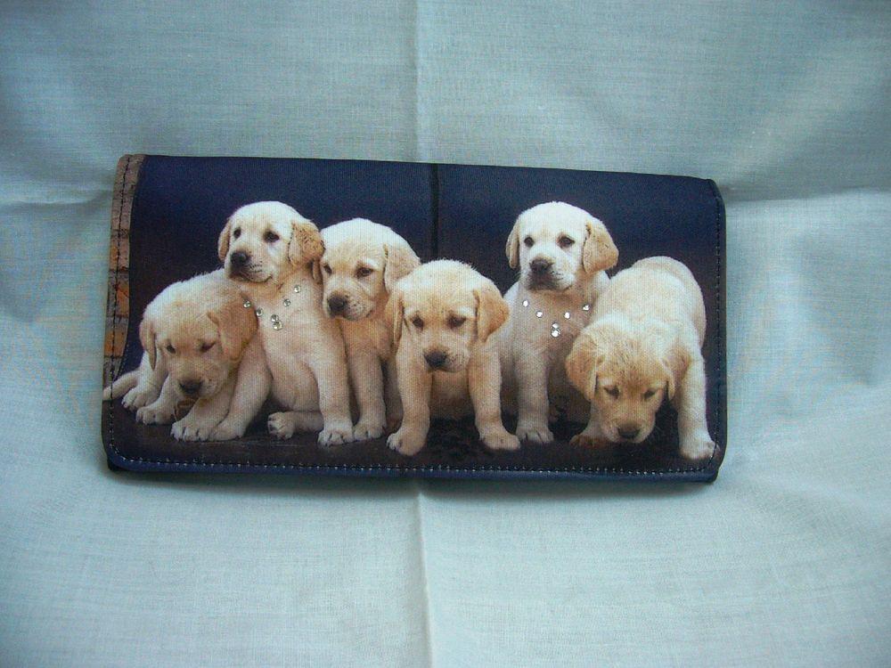 Dog Puppy Golden Retriever Pet Purse Long Wallet Bag BAG190 NEW