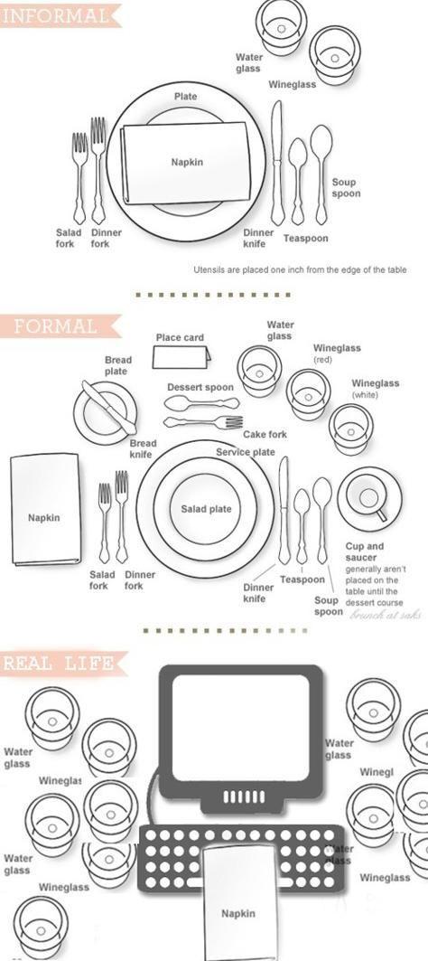 modern table settings - neatorama