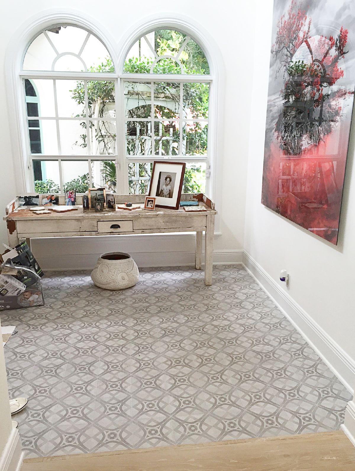 This Floor Tile Looks Like Printed Cement And Is A Tile Called Marrakech Porcelain Tile Subtle Grey Designs Work Great A Tile Print Gray Design Porcelain Tile