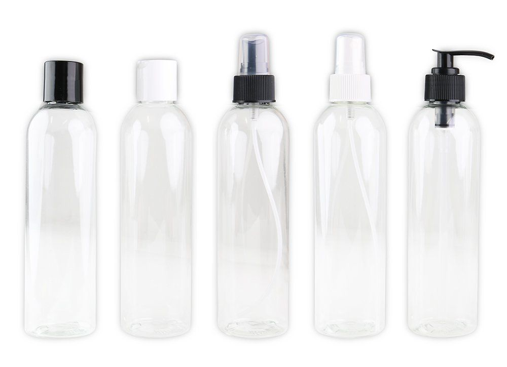 Amazon Com Set Of 5 Empty Spray Bottles Dispensers For Lotion Cream Oils And Other Cosmetics 8 Oz Cle Essential Oil Accessories Spray Bottle Bottle