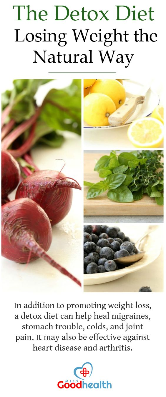 The Detox Diet Losing Weight The Natural Way Miss Goodhealth