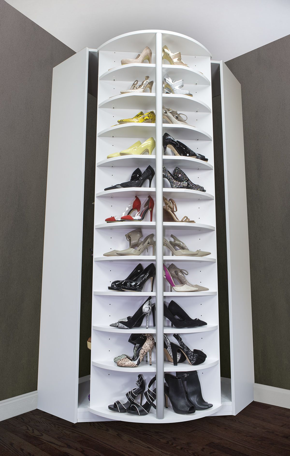 Spinning Shoe Rack Spinning Idea What A Great Invention Stores