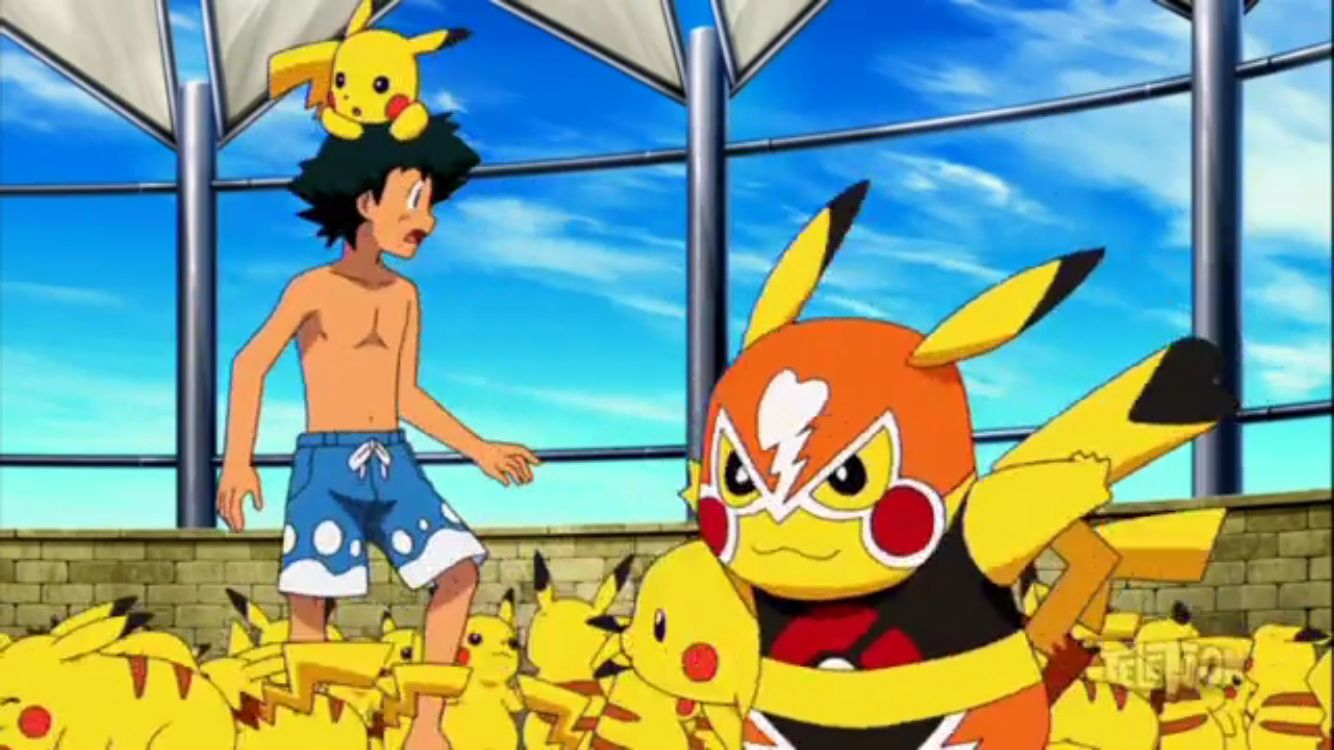 Shirtless Ash From The Movie Hoopa And The Clash Of Ages Ash Pokemon Pokemon Pikachu