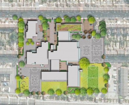 Davis Landscape Architects Avenue Primary School London Landscape Architect  Rendered Masterplan