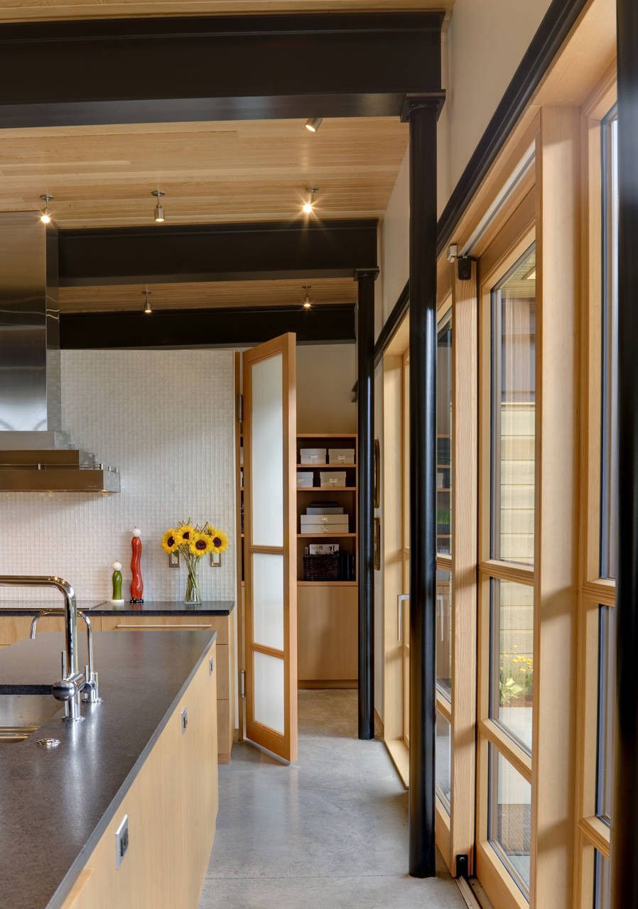 Sliding window over kitchen sink  gallery of river bank house  balance associates architects