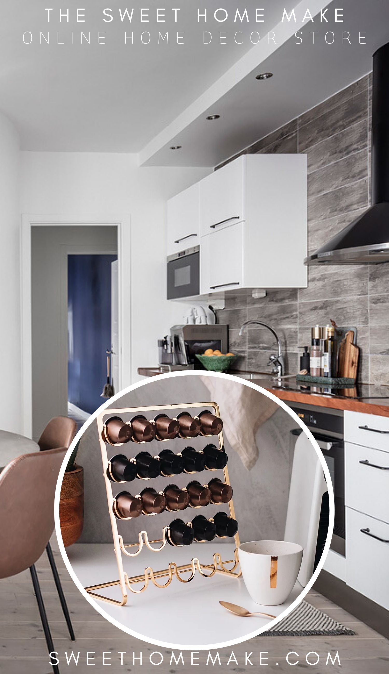 Photo of Nespresso Capsule Holder for detaljer i messing og kobber