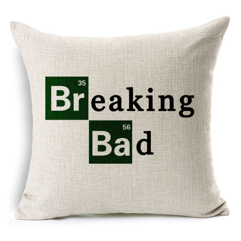 100 polyester sofa throws console behind cushion hit us drama breaking bad cotton linen car bedroom chair throw pillow home decor