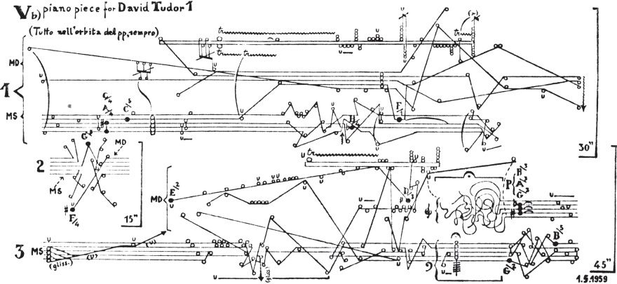 Example From The Set 5 Piano Pieces For David Tudor Written For The Genius Champion Of Avant Garde Piano Music Experimentelle Musik Grafiken Musikalisch