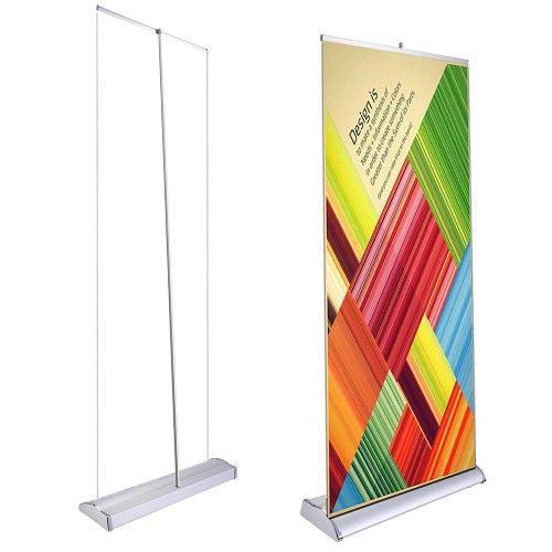 A+ Yescom Deluxe 33 x 79 In. Retractable Rollup Banner Stand Trade Show Display Sign Holder w/ Bag