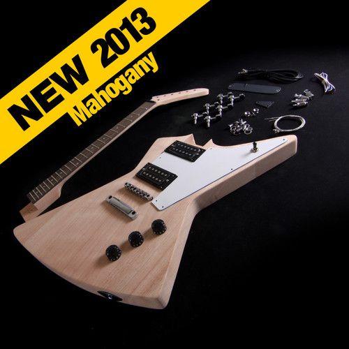 diy mahogany bolt on double neck 12 string and electric guitar kit diy electric guitar kit set in solid mahogany body neck