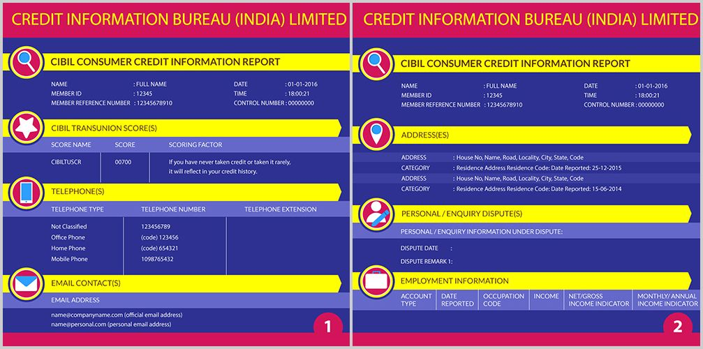 Know about the Components of a CIBIL Report   wwwbankbazaar