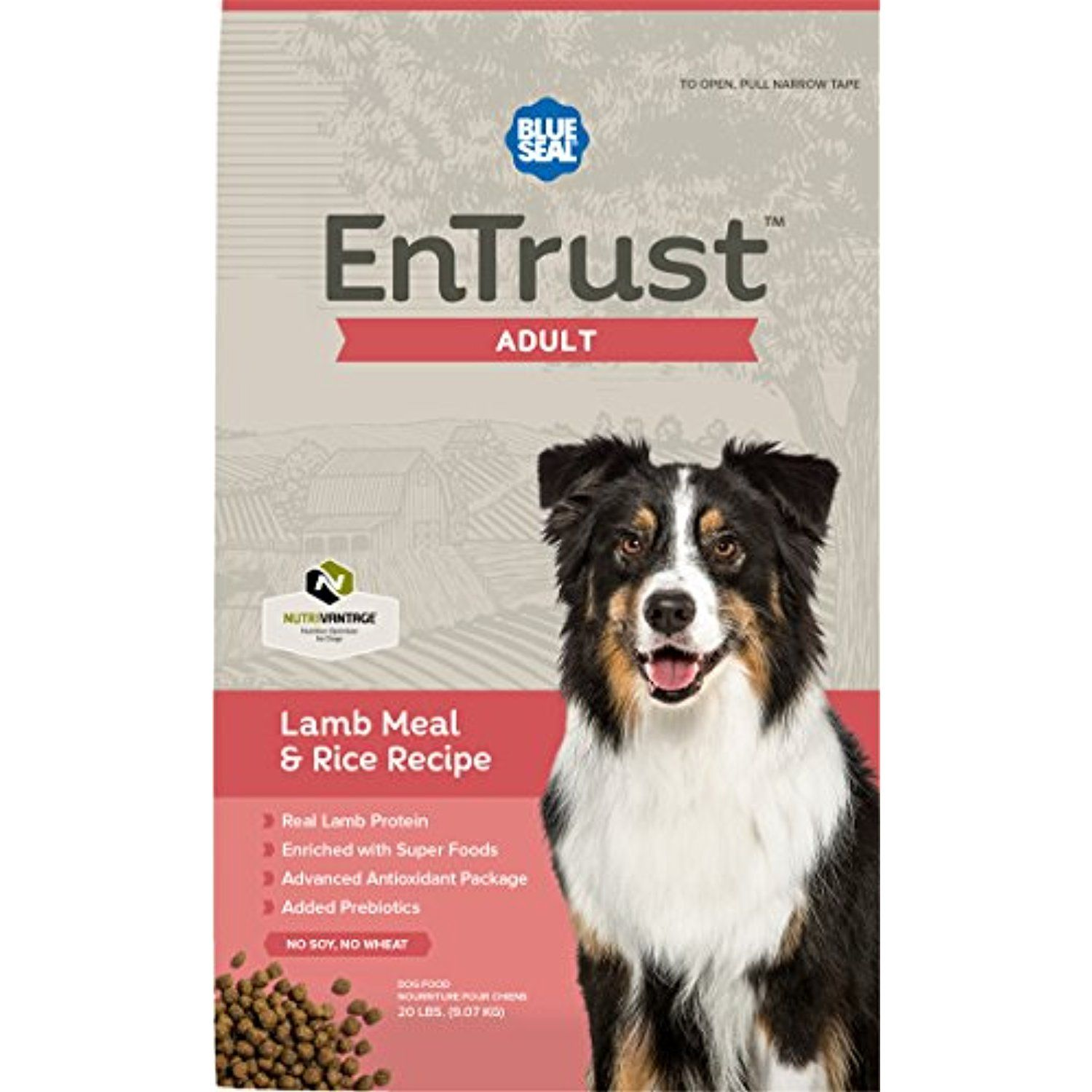 Blue Seal Entrust Adult Lamb Meal Rice Dog Food 20 Pounds