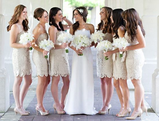 Trendy Bridesmaid Styles: Lace Bridesmaid Dresses | My dream ...
