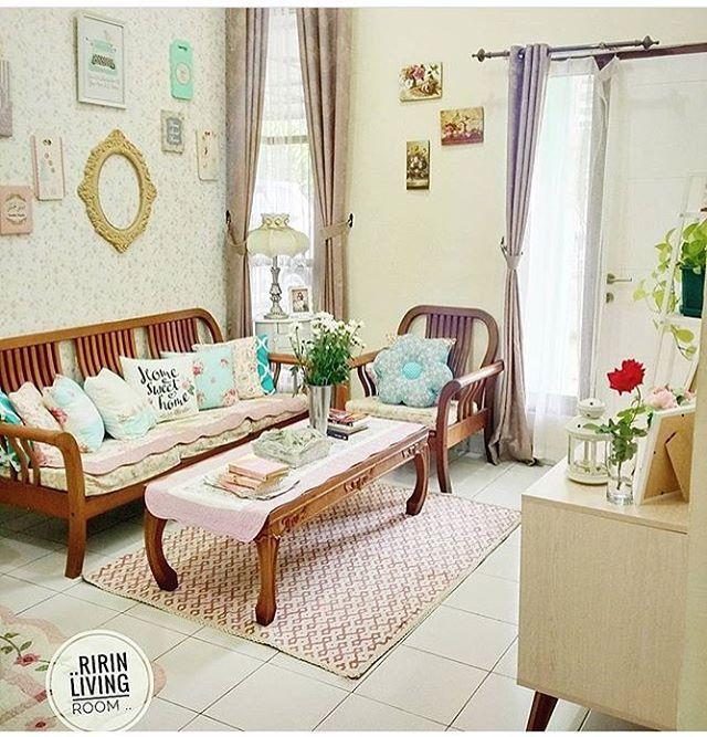 Desain Ruang Tamu Sederhana Mungil Kecil Shabby Chic Ide