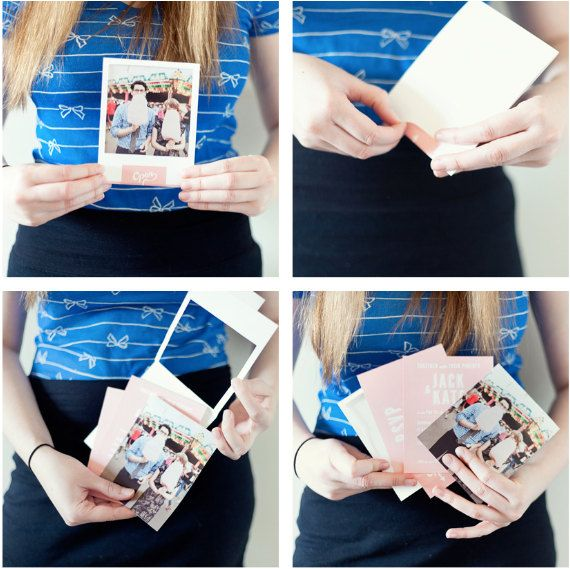 Insta Photo Frame wedding invitation set | Polaroid wedding ...